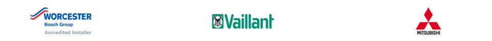 Worcester Bosch boilers, Vaillant boilers and Mitsubishi heat pumps