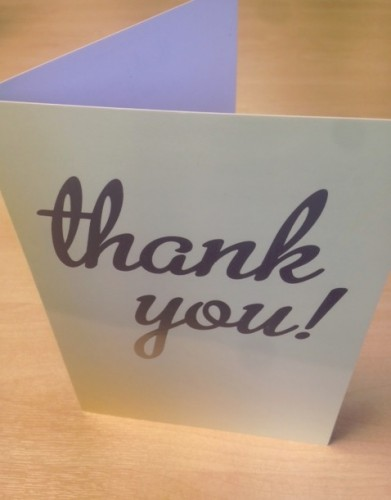 Thank you card - testimonial